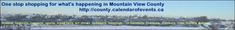 Mountain View County Events Calendar